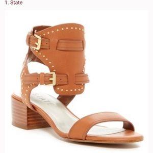 1.State Rylan Boho Brown Studded Sandals size 7.5